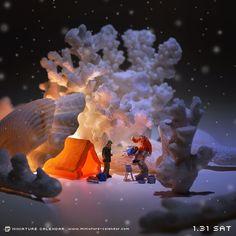 ". 1.31 sat ""Snow sea"" . 「ここは海なのか?山なのか?」 . #珊瑚 #サンゴ #coral ."