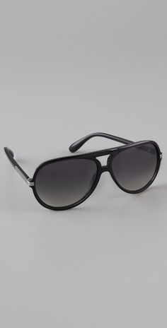 Marc By Marc Jacobs Black Oversized Aviator Sunglasses