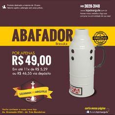 Abafador Brasuka  POR APENAS R$ 49,00 Em até 11x de R$ 5,29 ou R$ 46,55 via depósito Compre Online: http://www.lojadoarguile.com.br/abafador-brasuka