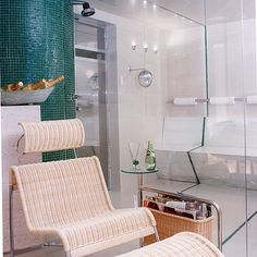 Sala de Repouso, Sauna e Ducha | Beatriz Siqueira