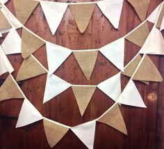 100 mtrs hessian & calico bunting 580 flags rustic country weddings barn dances