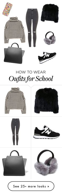 """""""Blogger school day"""" by britthadey on Polyvore featuring Topshop, New Balance, ZAC Zac Posen, Casetify and H Brand"""