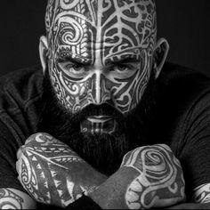 Facial Tattoos, Head Tattoos, Body Art Tattoos, Girl Tattoos, Sleeve Tattoos, Tattoos For Guys Badass, Neck Tattoo For Guys, Awesome Tattoos, Large Tattoos