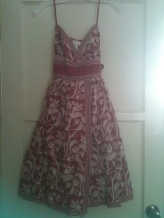 Vintage 1950's Dress Red White Floral by PuppyLoveStuff on Etsy, $39.00