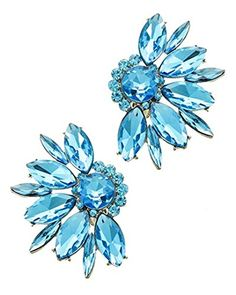 Fancy Clip On Earrings BV Teal Crystal Evening Bridal Silver Tone Recyclebabe Earrings http://www.amazon.com/dp/B018T3TW4E/ref=cm_sw_r_pi_dp_AgMxwb1GRZRPX