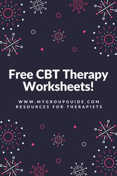 Free therapy resources: mental health worksheets on anger, anxiety, cognitive distortions, self-esteem, & more. Cbt Worksheets, Counseling Worksheets, Counseling Activities, Art Therapy Activities, Cognitive Behavioral Therapy Worksheets, Group Activities, Middle School Counseling, School Social Work, High School