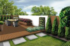 waski ogrod-styl nowoczesny-przedluzony taras