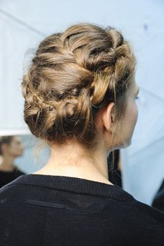 Crown Braid Hairstyles. Many different pics and two tutorials for you to do it at home. Check the page.