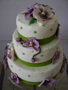 orchid cake by bubolinkata, via Flickr
