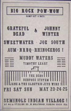 Grateful Dead, Sweetwater, Johnny Winter, NRBQ, Muddy Waters - Florida