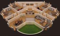 floor plnan of luxury house foor plan cgtrader luxury plan 9 224 square feet 5 bedrooms 6 5 bathrooms 207 00074 Round House Plans, 3d House Plans, House Plans Mansion, Model House Plan, House Layout Plans, Dream House Plans, House Layouts, Bedroom House Plans, House 3d Model