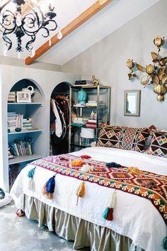Los 25 dormitorios de estilo boho chic más bellos de Pinterest 17
