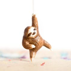 Sloth Ornament - Made to Order by leanimale on Etsy https://www.etsy.com/listing/212928932/sloth-ornament-made-to-order
