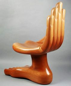 wooden hand chair furniture inspiration home design gallery handcrafted chairs Unusual Furniture, Funky Furniture, Silla Art Deco, Painted Wooden Chairs, Hand Chair, Muebles Art Deco, Chair Design Wooden, Wooden Hand, Furniture Inspiration