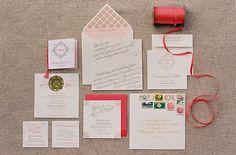 LOVE the white and gold invite erika-jack-stationnaire