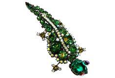 Juliana Jeweled Lizard Brooch