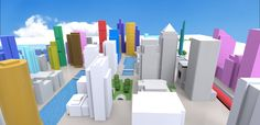 3D view from east of Canary Wharf