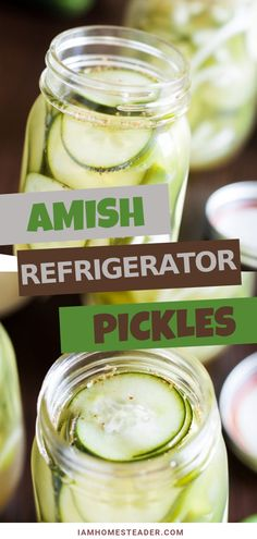A side dish recipe handed down from grandma Made with cucumbers peppers onions and celery seed these easy refrigerator pickles are soaked with vinegar salt and white sugar Try this homemade Amish Refrigerator Pickles for family dinners Refrigerator Pickle Recipes, Homemade Refrigerator Pickles, Crispy Pickles Recipe, Best Nutrition Food, Nutrition Chart, Nutrition Websites, Nutrition Products, Nutrition Articles, Recipes