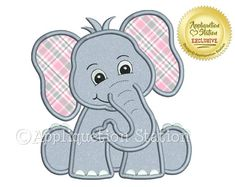 Machine Applique Embroidery Design: This little elephant is one in a series of matching zoo baby animals. It makes a great single design check out the others for a great theme! Sizes included: (sizes rounded for easy reference) hoop - Free Applique Patterns, Baby Applique, Baby Quilt Patterns, Applique Templates, Applique Embroidery Designs, Machine Embroidery Applique, Etsy Embroidery, Guitar Patterns, Embroidery Ideas