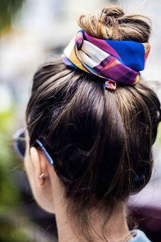 10 Fresh Ways to Wear a Silk Scarf via @PureWow