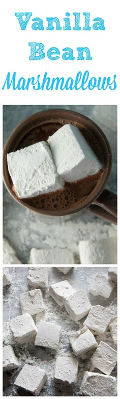 Vanilla Bean Marshmallows - includes step by step photos so you can master your own homemade marshmallows! Send your hot cocoa over the edge with these! Boston Girl Bakes