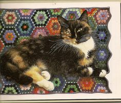 Lesley Anne Ivory's Cat Painting