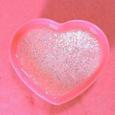 pink glittery heart