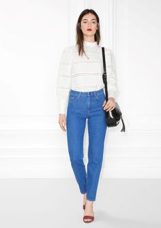 & Other Stories image 1 of Straight Denim Jeans in Blue
