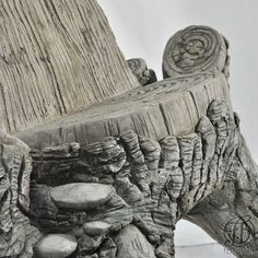 Fauteuil - Ciment - Faux-Bois- Broceliande - Fred Bross'Art -  2
