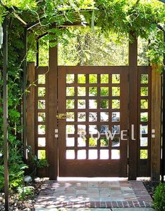 garden gate ideas | Here, it may appear that the gate grids are all equal, both vertically ... #GardenGate