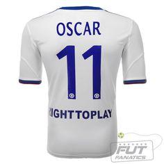 963d936f1e3ce Camisa Adidas Chelsea Away 2014 11 Oscar - Fut Fanatics - Compre Camisas de  Futebol Originais