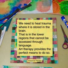 Art therapy is a useful treatment for PTSD.  ‪#‎PTSD‬ ‪#‎trauma‬