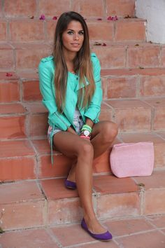 love love LOVE the mint jacket...so cool looking