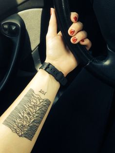 joy division unknown pleasures tattoo - Google Search