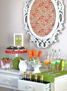 Owl themed desserts