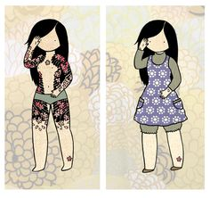 "Secret Yakuza Housewife (by Stasia Burrington - http://www.etsy.com/shop/stasiab ) || see others: (1) https://www.pinterest.com/pin/92675704801989964/ (2)  https://www.pinterest.com/pin/92675704801989949/ (3) https://www.pinterest.com/pin/92675704801989957/ || also, her ""Shunga"" (春画), aka Erotic (Wood Block) Art, series: https://www.pinterest.com/pin/92675704808481726/"