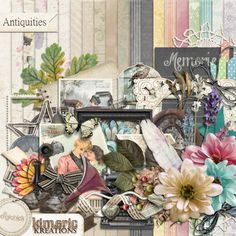 Digital Scrapbook Kit, Antiquities by Kimeric Kreations at the DigiChick
