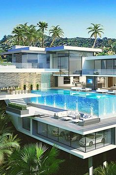 Best Modern Mansion Design Ideas That Will Blown Your Mind - Modern house plans by leading architects and designers. All of our modern house plans can be modified. Future House, My House, Garage House, Soho House, Amazing Architecture, Interior Architecture, Contemporary Architecture, Modern Mansion Interior, Computer Architecture