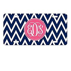AnnaStoree License Plate Cover Personalized Monogrammed Aluminum Metal License Plate for Auto Accessory License Plate Covers, Aluminum Metal, Chicago Cubs Logo, Car Accessories, Team Logo, Plates, Art, Auto Accessories, Licence Plates