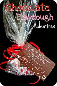 Chocolate Play dough for sculpting near Valentine's day
