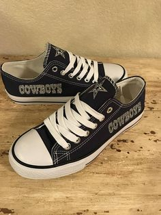 best service 087cc 8f837 Dallas Cowboys Custom Shoes. ✭ DESCRIPTION ✭ Converse style (these ARE NOT  CONVERSE)