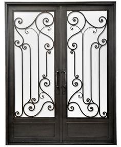 Puerta doble hoja de hierro forjado — Del Hierro Design