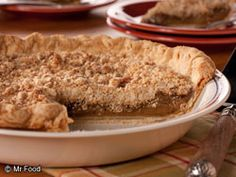 Quakertown Crumb Pie | mrfood.com Modify this a bit - make the filling a custard by adding cream and 2 more eggs.