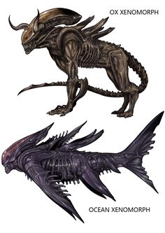 Xenomorph Ox and shark