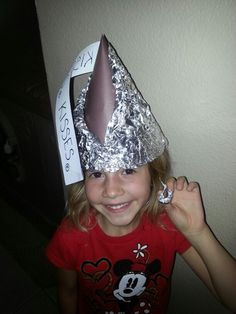 Crazy hat day. Made a Hershey Kiss Hat with some chocolate showing. Fun and cute!