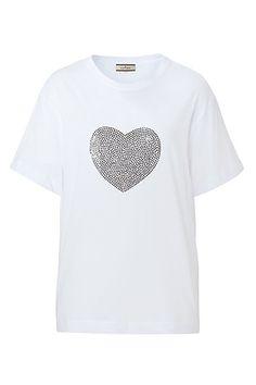 Rhinestone heart tee
