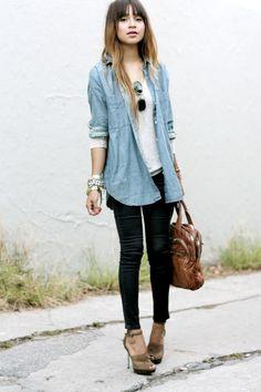 camisa de jean mujer - Buscar con Google