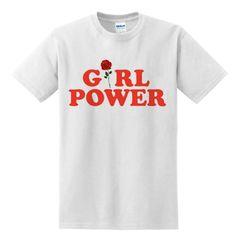 Girl Power Red Rose T-SHIRT