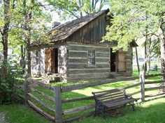 Log Schoolhouse - believed to be one of the first school houses in Humberstone Township. Niagara Region, Spring City, Lake Erie, My Town, Niagara Falls, Ontario, Homeschool, Canada, Houses