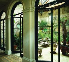 Black French Doors Patio desire to inspire - desiretoinspire - marie-laure helmkampf